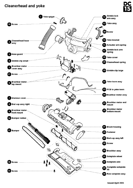 Dyson Dc25 Animal Parts Diagram Www Imgkid Com The