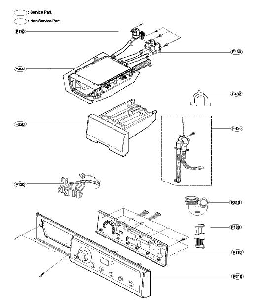 lg washing machine parts manual