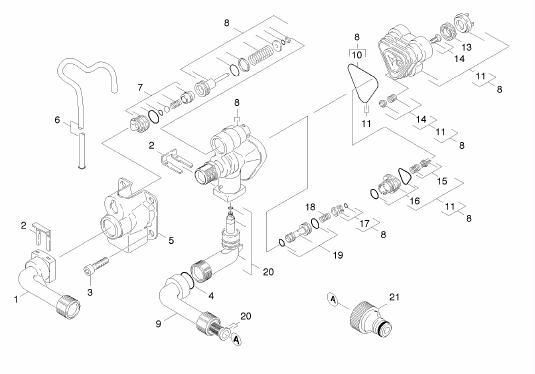 karcher kb kb pressure washers spares buyspares karcher kb3030 1 421 791 0 pump housing 1 12 of 19