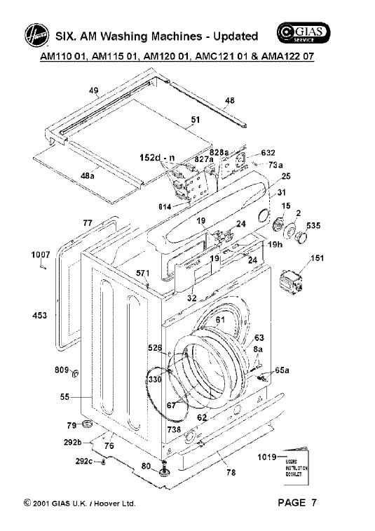 hoover amc121 01 washing machine spares buyspares. Black Bedroom Furniture Sets. Home Design Ideas