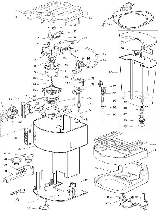 delonghi coffee machine parts