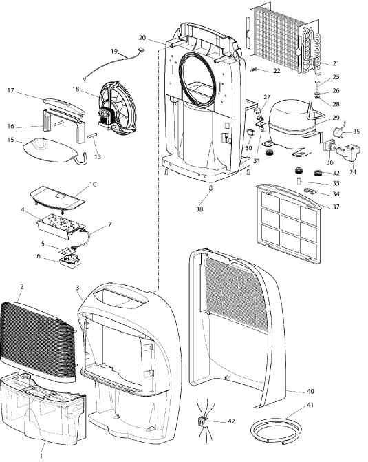 Delonghi Dec180e Dehumidifier Spares Buyspares