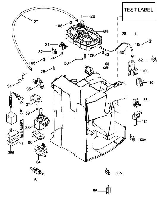 delonghi magnifica coffee machine parts