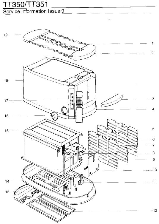 Kenwood TT351 Toaster Spares | BuySpares